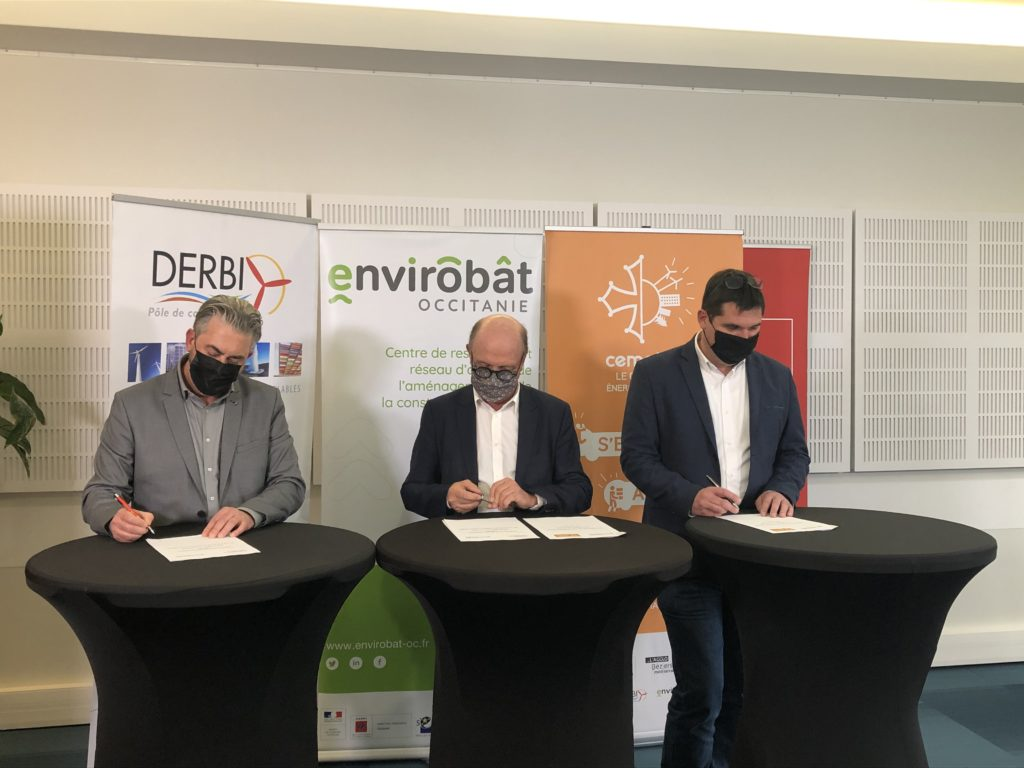 Signature de l'accord du Plan bâtiment durable par Cemater